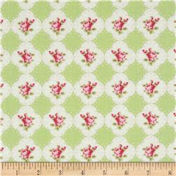 Tanya Whelan Rosey Cameo Rose Green Fabric