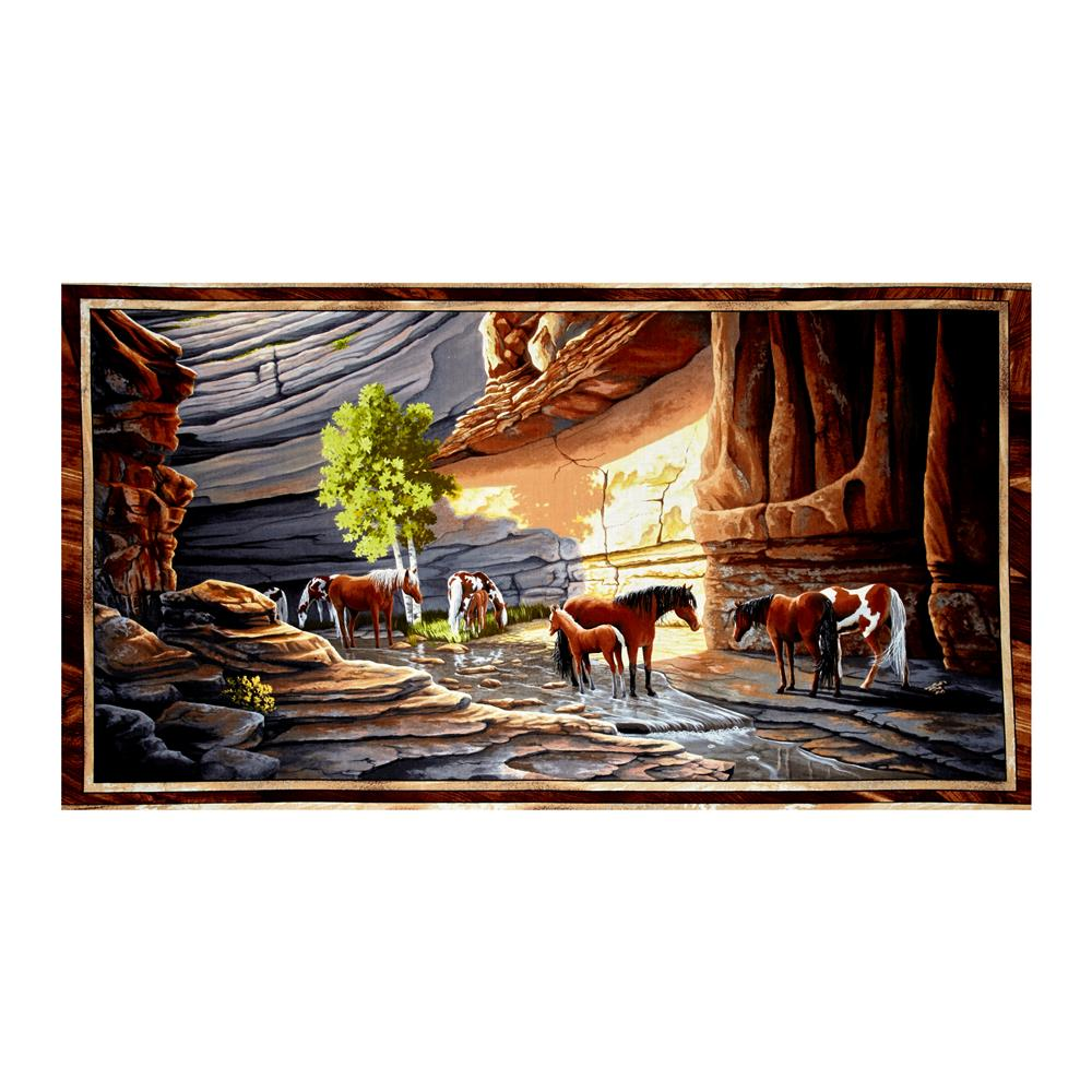 Sundance Canyon Horse 23.5'' Panel Multi Fabric