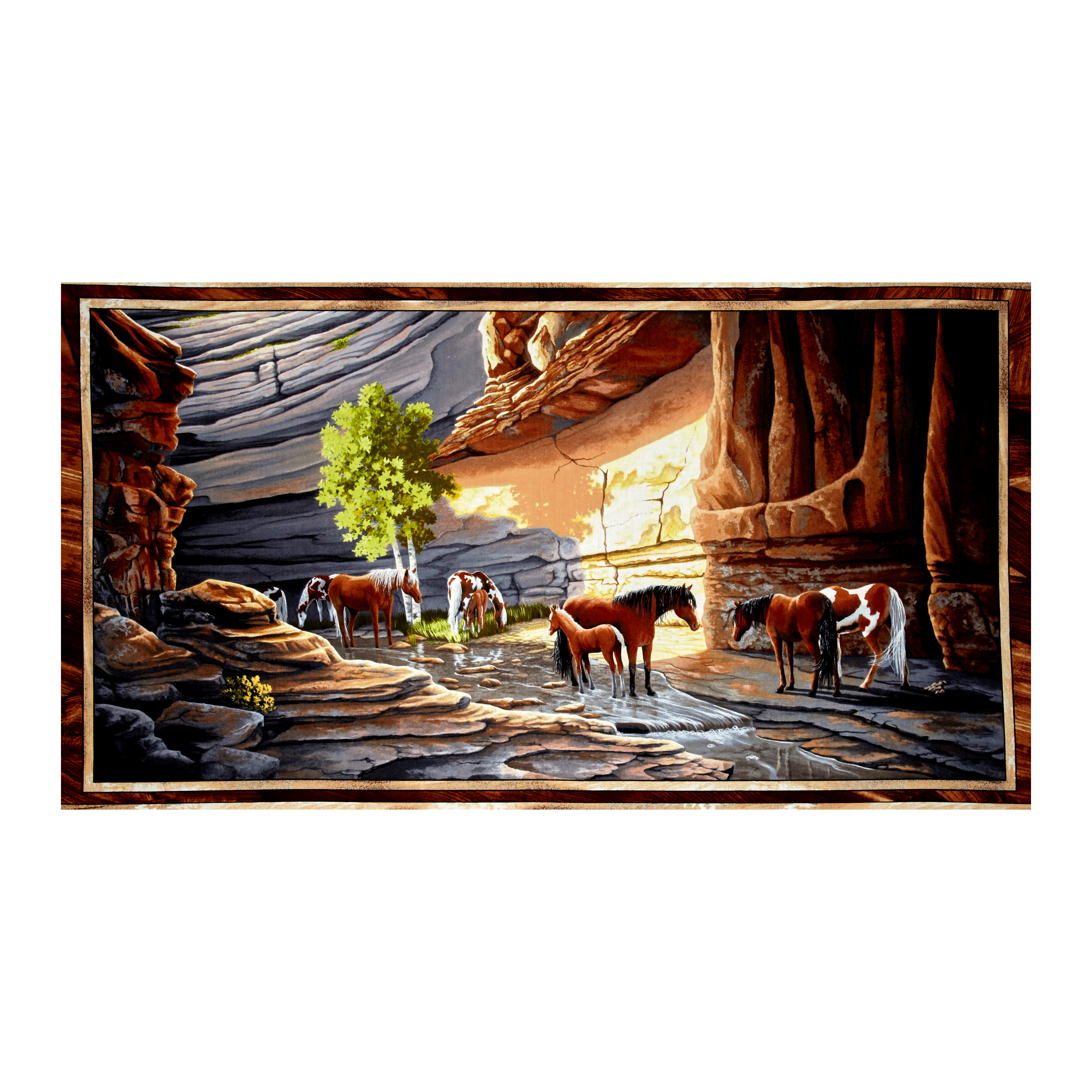 Sundance Canyon Horse 23.5'' Panel Multi Fabric by Quilting Treasures in USA
