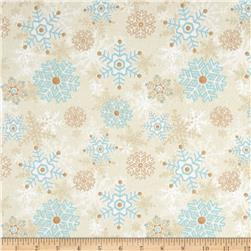 I Still Love Snow Flannel Snowflakes Cream