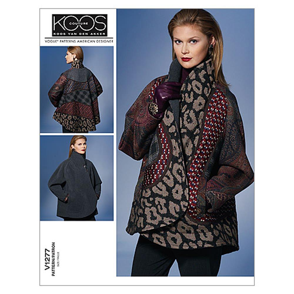 Vogue Misses' Reversible Jacket Pattern V1277 Size 0Y0