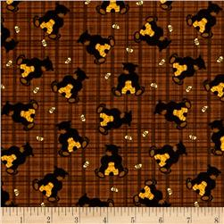 Bear Paws Bear with Honey Plaid Brown