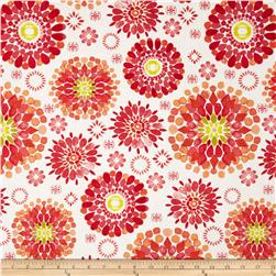 Island Breeze Large Medallion Orange/White Fabric