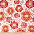 Island Breeze Large Medallion Orange/White