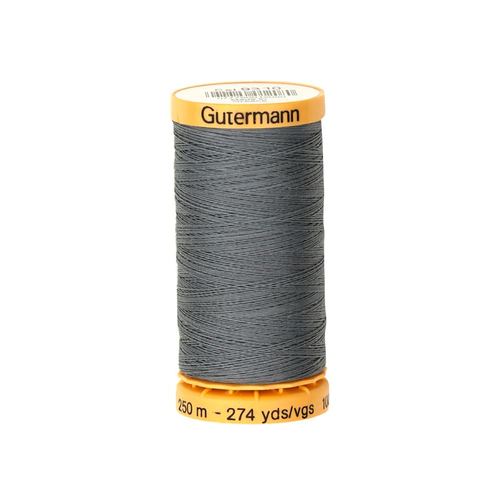 Gutermann Natural Cotton Thread 250m/273yds Dark Grey