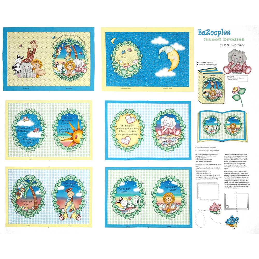 "Nursery Bazooples Sweet Dreams Soft BOOK-36"" Multi"