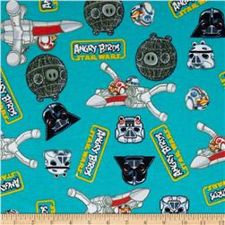 Star Wars Angry Birds Flannel Blue Fabric