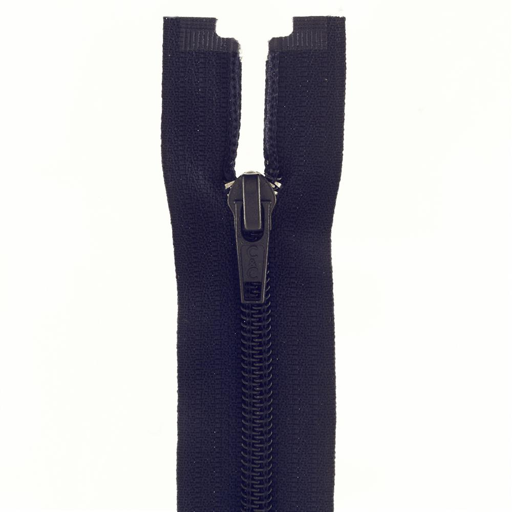 "Coats & Clark Coil Separating Zipper 14"" Navy"
