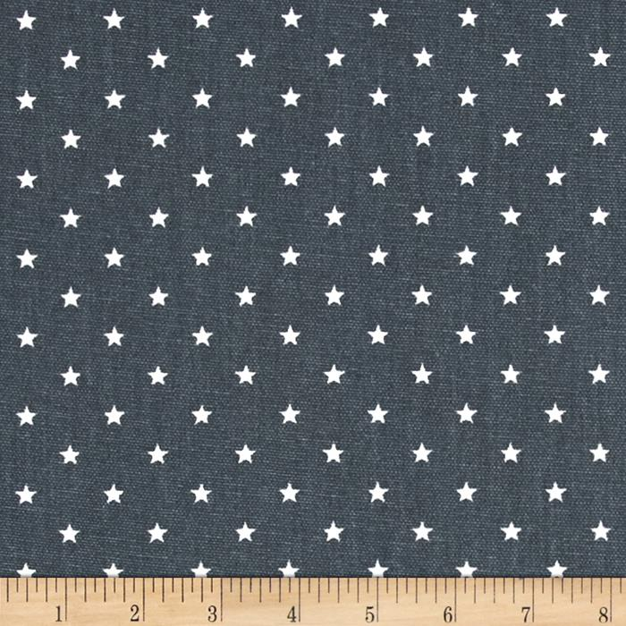 Premier Prints Mini Stars Gunmetal/White