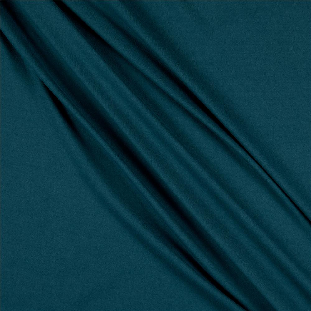 Double Brushed Poly Spandex  Jersey Knit Teal