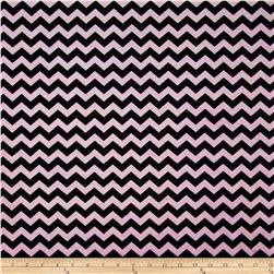 Minky Mini Chevron Light Pink/Black