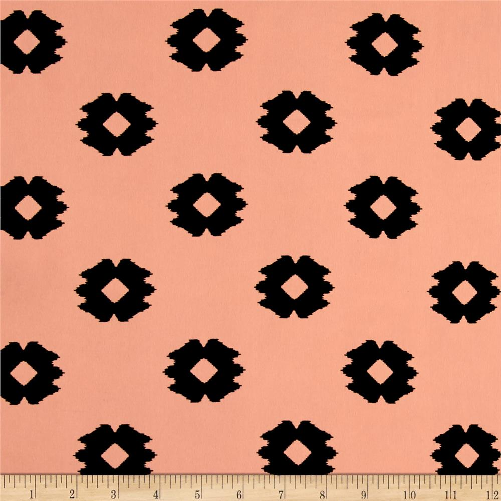 Peachskin Ikat Diamonds Black/Peach