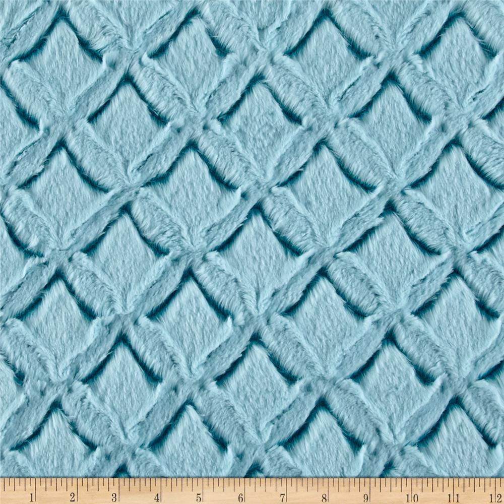 Shannon Minky Frosted Gem Cuddle Teal/Aqua