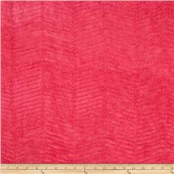 Minky Chevron Snuggle Hot Pink