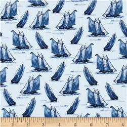 Sail Away Sailboats Blue