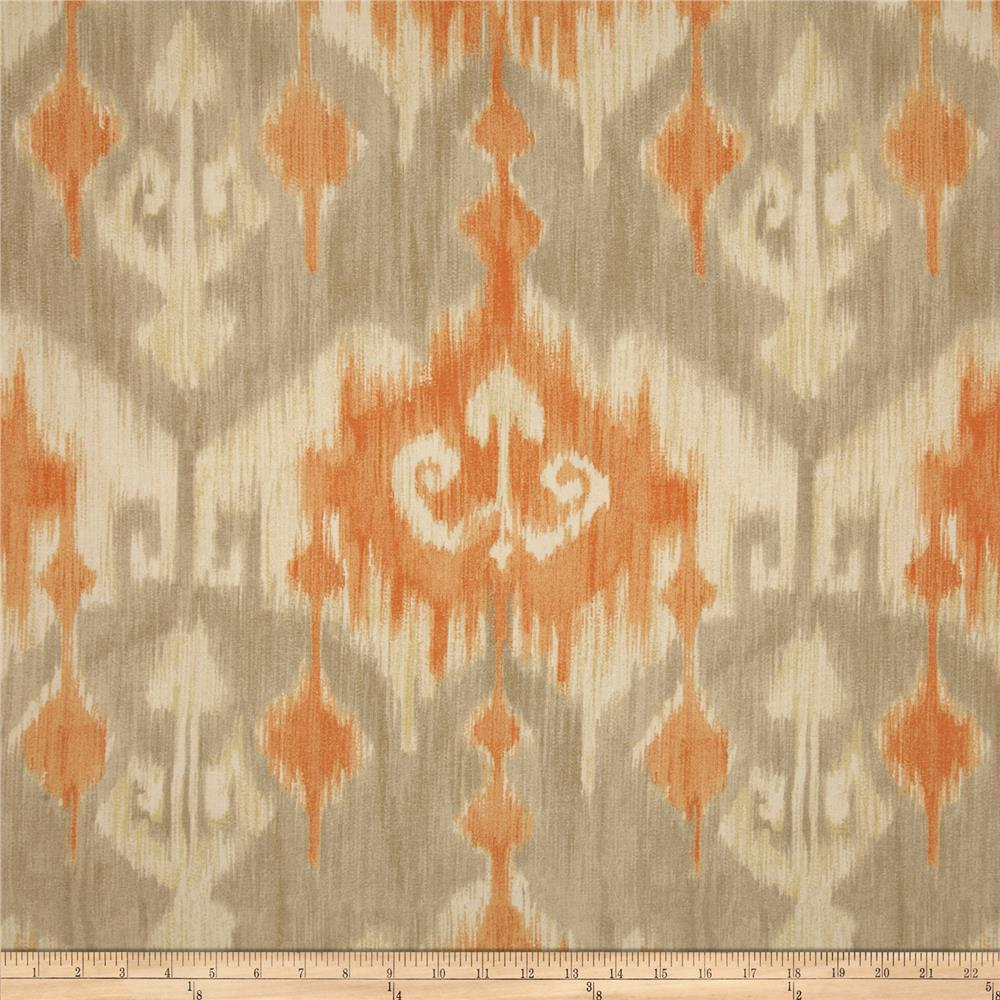 richloom marlena ikat orange discount designer fabric