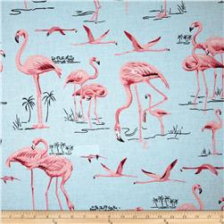 Duralee Flamingo Pink/Sky Blue Fabric