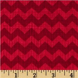 Timeless Treasures Sketch Chevron Red