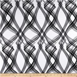 Ponte de Roma Abstract Plaid Black/White