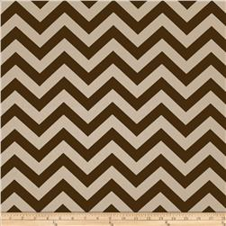 Premier Prints Zig Zag Village Brown/Natural Fabric