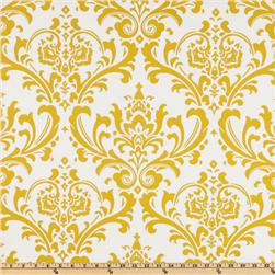 Premier Prints Traditions Slub Yellow/White Fabric