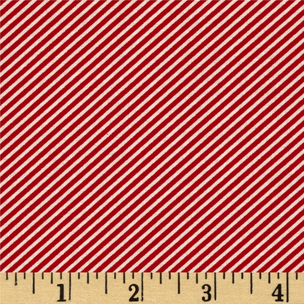 Moda Scrumptious Bias Stripe Red