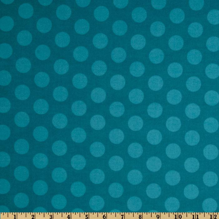 Mischief Flannel Cookie Dots Aqua