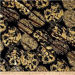 Venezia Slinky Knit Black/Gold