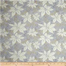 Winter Memories Metallic Poinsettia Light Gray