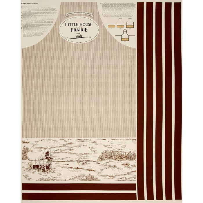 Little House On The Prairie Apron 36'' Panel Tan