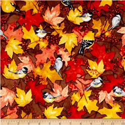 Fall Feast Birds Light Brown