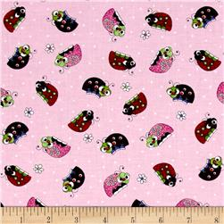 Lazy Little Ladybugs Ladybugs Pink