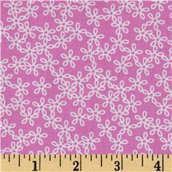 Hot Topic Flower Swirls Pink Fabric