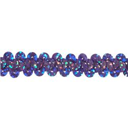 "3/8"" Hologram Stretch Sequin Trim Lavender"