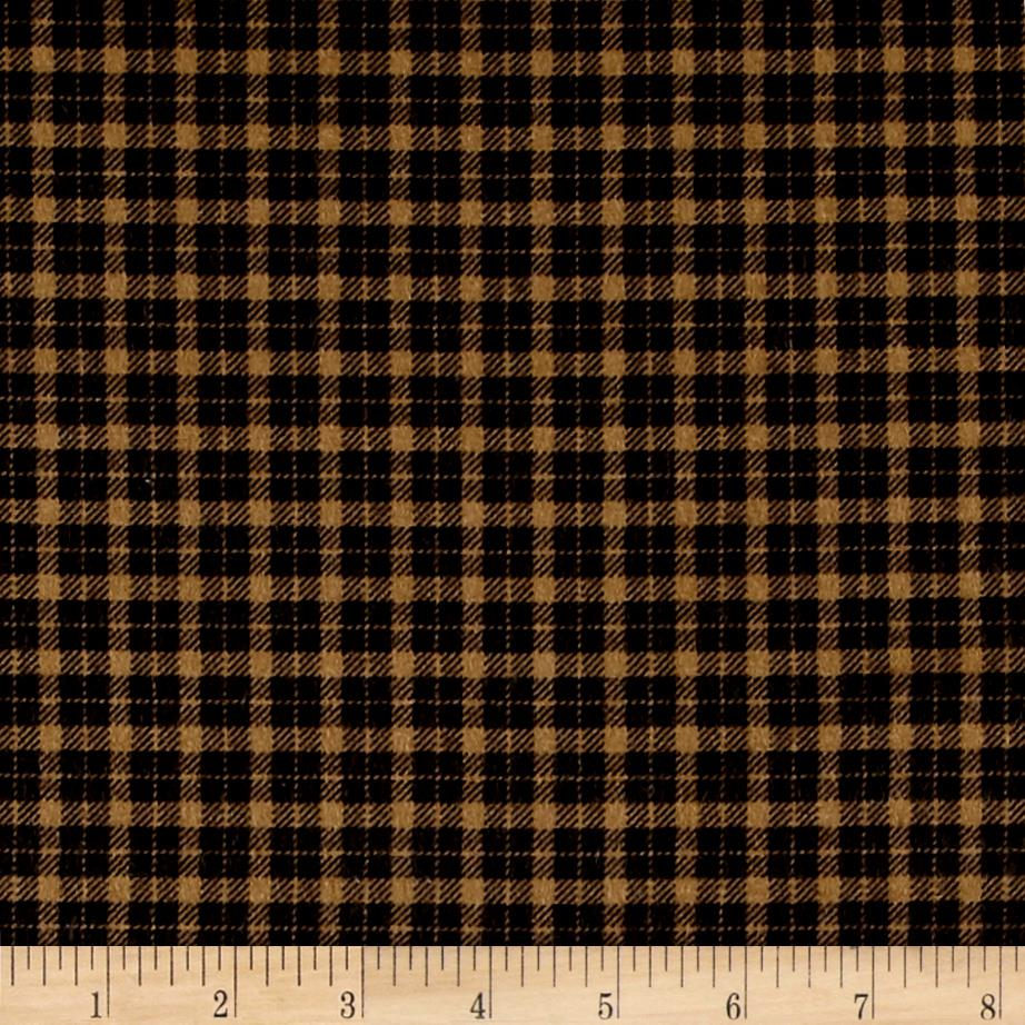 Mad for Plaid Flannel Mini Check Camel Fabric
