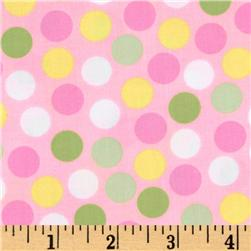 Remix Polka Dots Blush Fabric