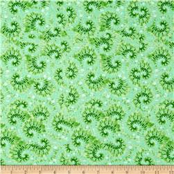 Tie Dye Swirl Green Fabric
