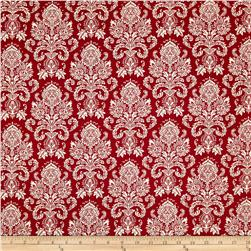 Riley Blake Postcards for Santa Damask Red