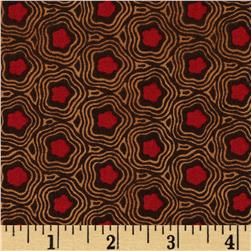 Mary Koval Tree of Life Wavy Tile Brown
