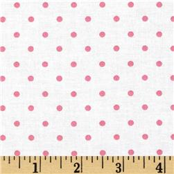 Moda Celebration Dots White/Pink