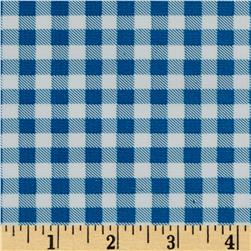 Oil Cloth Gingham Royal Blue