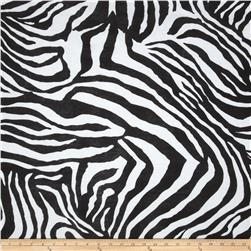 Cotton Blend Rib Knit Zebra Black/White