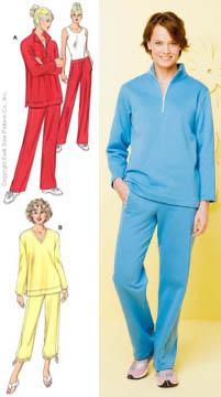 Kwik Sew Half-Zip Knit Tops & Knit Pants