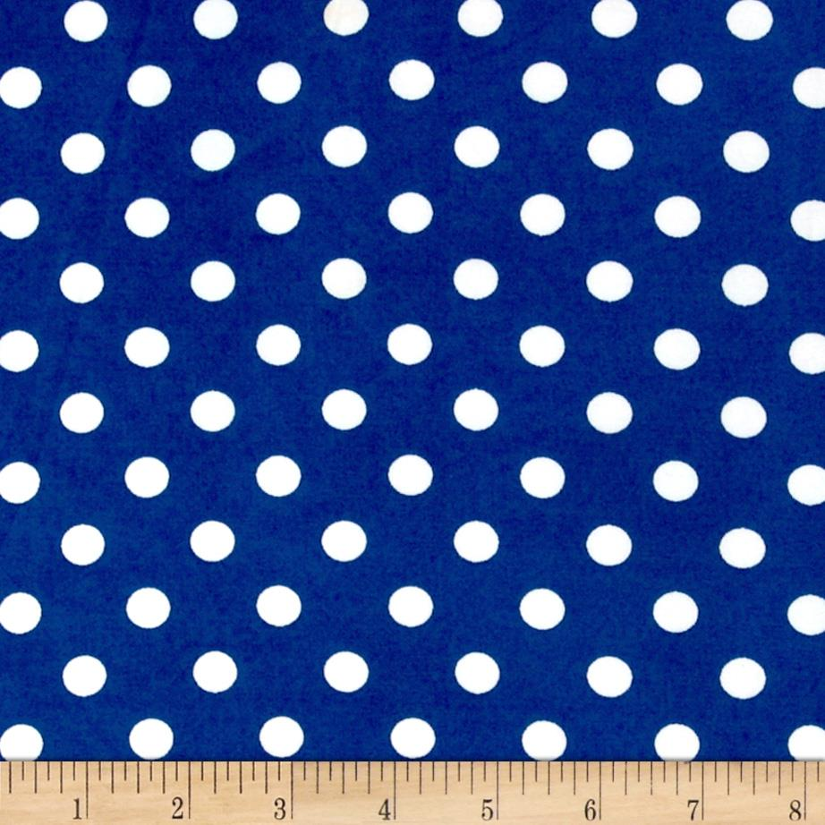 Stretch ITY Jersey Knit Small Dots Blue/White