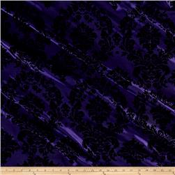 Flocked Damask Taffetta Purple/Black
