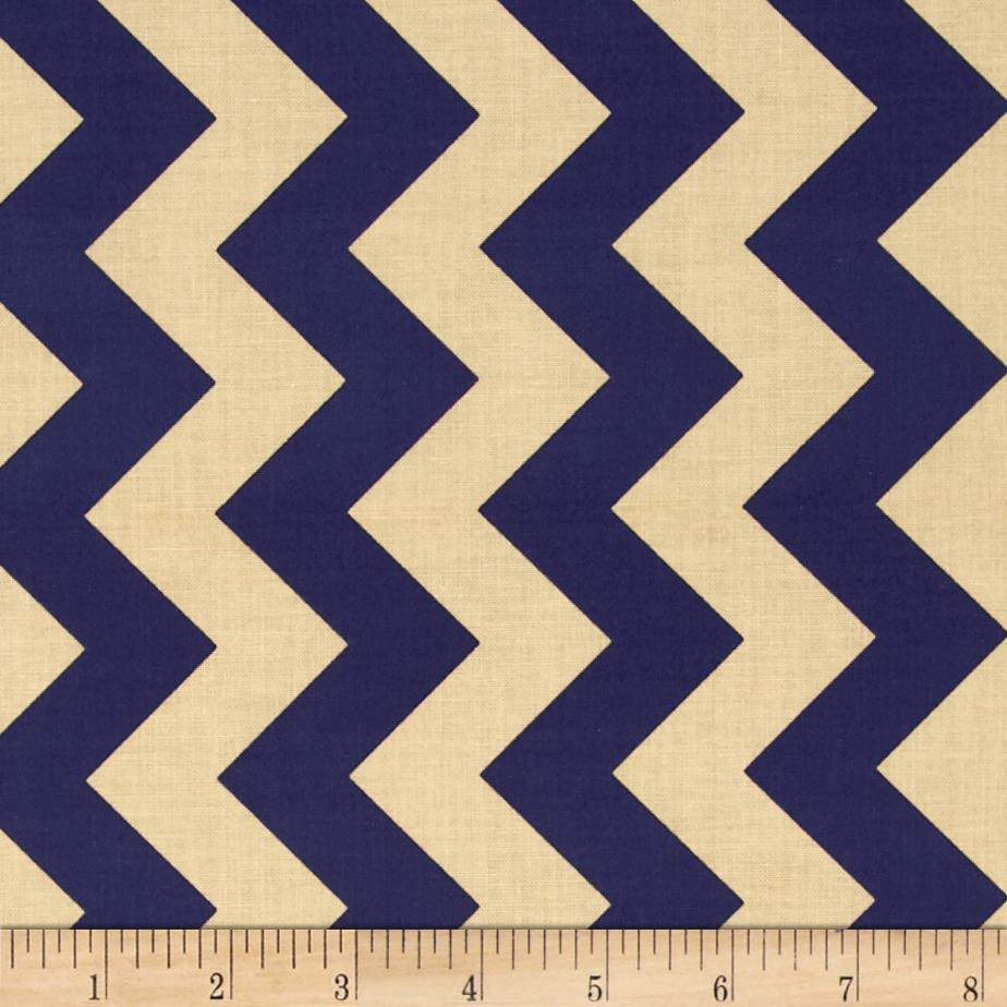 Riley Blake Medium Chevron Navy/Tan