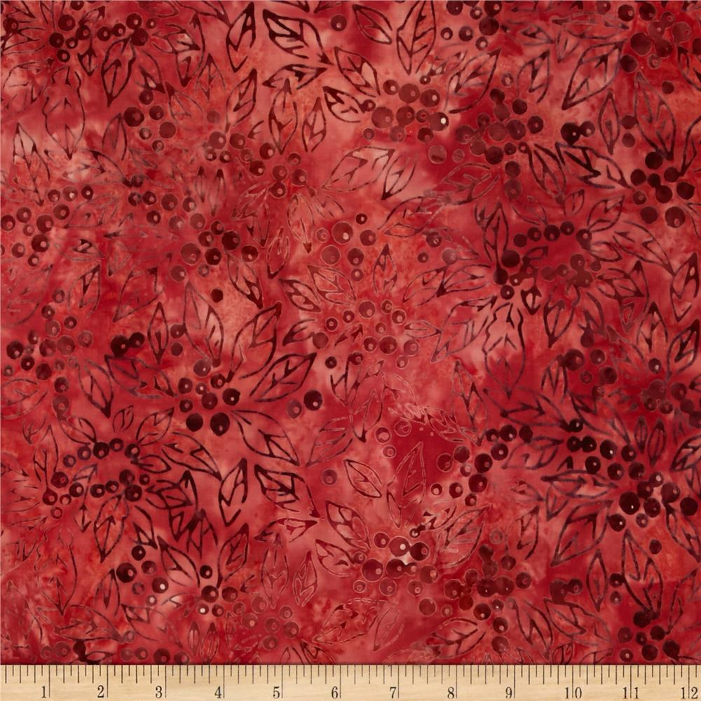 Kaufman Northwood Batiks Medium Leaves Holiday