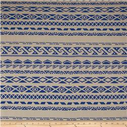 Chiffon Aztec Stripe Royal