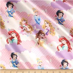 Disney I Am A Princess Clouds Brushed Back Satin Pink