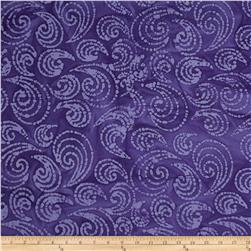 Indian Batiks Paisley Scroll Purple